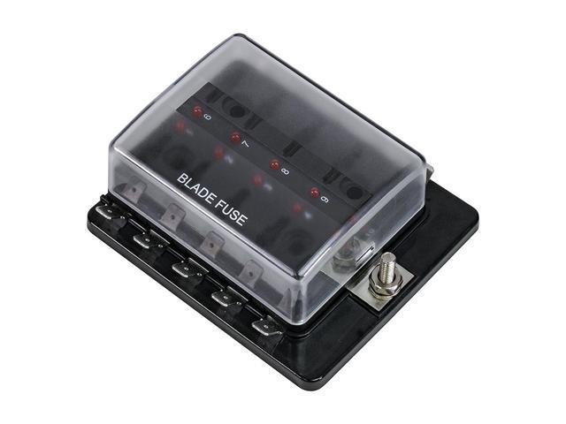 sodial 1pcs 10 way blade fuse box led indicator for blown fuse sodial 1pcs 10 way blade fuse box led indicator for blown fuse