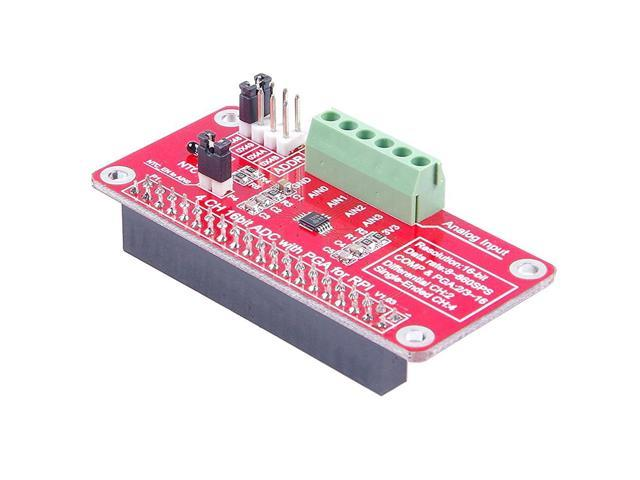 SODIAL 4-Channel 16Bit ADC With PGA For RPI Raspberry PI 16 Bits I2C  ADS1115 Module ADC 4 Channel for Raspberry Pi 3/2 Model B/B+ - Newegg com