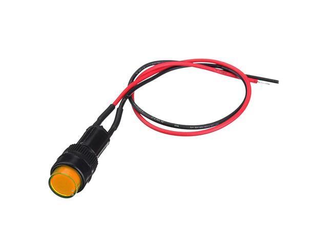 SODIAL 10mm Universal Dash Board Panel Car Indicator Kit Warning LED Light  Lamp 12V Van 1Pcs, Yellow - Newegg com