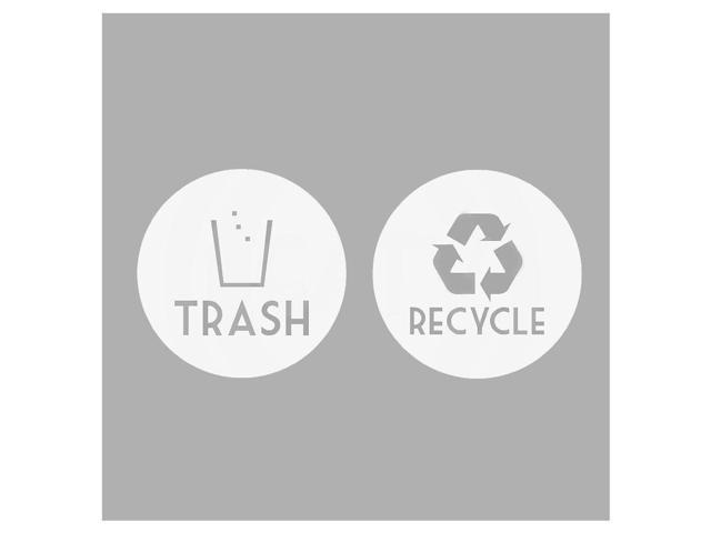 SODIAL Recycle +Trash Vinyl Lettering Decal Sticker(6x6 inch,White) -  Newegg com