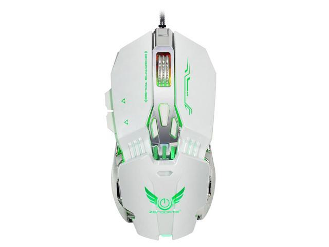 SODIAL ZERODATE X800 4-level adjustable DPI (1200/1600/2400 / 3200DPI)  four-color variable light wired game mechanical mouse(white) - Newegg com