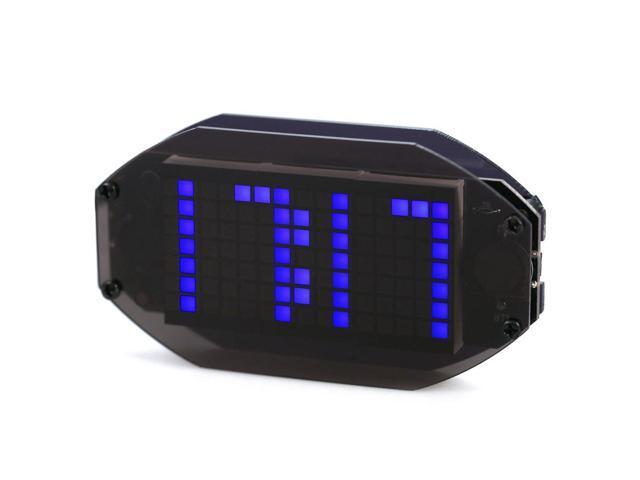 SODIAL DIY Black Mirror LED Matrix Desktop Alarm Clock Kit with Temperature  Display Holiday and Birthday Remind Function blue - Newegg com
