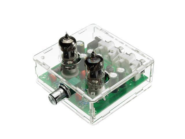SODIAL AC 12V 6J1 Valve Pre-amp Tube PreAmplifier Board Headphone Amplifier  Buffer Case - Newegg com