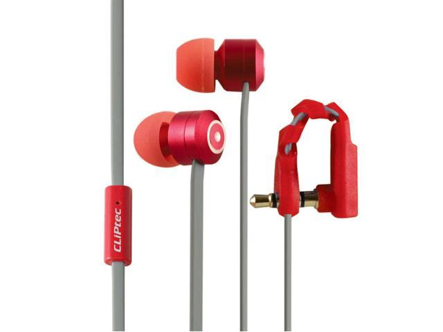 ef43b5b16c3 Cliptec Red Urban Curve Music Stereo Wired In-Ear Earphone Headphones  Earbuds Noise Isolation In
