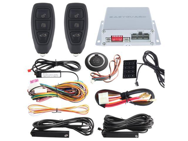 Lock / Unlock PKE car alarm system touch password entry, push button start  & remote engine start stop, passive entry system kit - Newegg ca