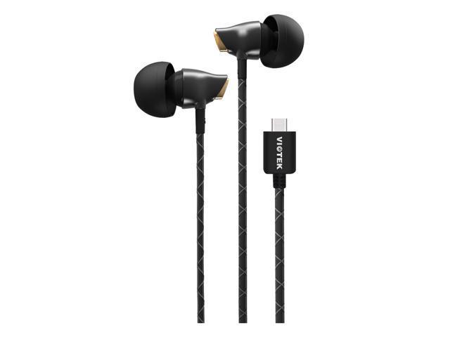 d5d64eebd40 VIOTEK Aqua USB-C Stereo Earbuds: Powerful 100dB; Dynamic & Purely Digital  Sound