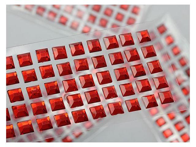 8mm Red Lq17 Stick On Square Gems For Cards And Invitations Bulk Pack 10 Sheets Newegg Com