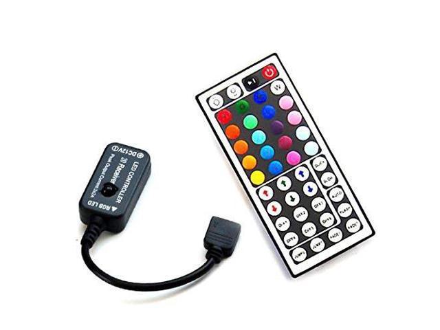 HitLights RGB Multicolor LED Strip Light 44 Key Custom Color DIY Controller  - 72W for LED Tape Lights - Newegg com