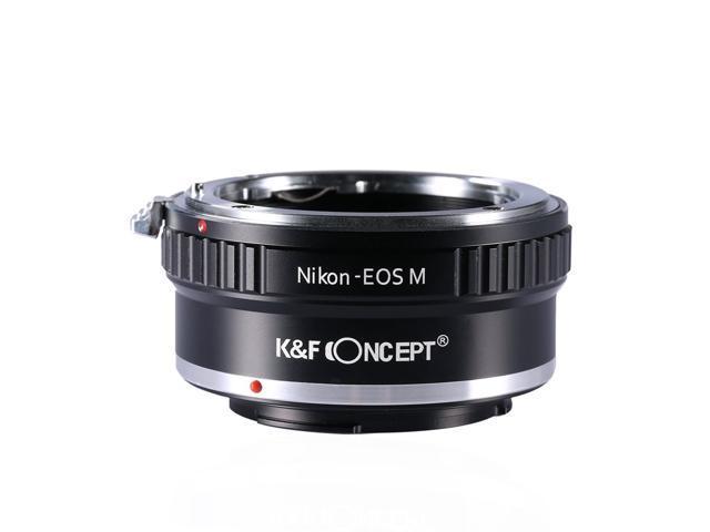 K&F Concept® Lens Mount Adapter, Nikon AI Lenses to the Canon EOS M  Mirorless Camera Body - Newegg com