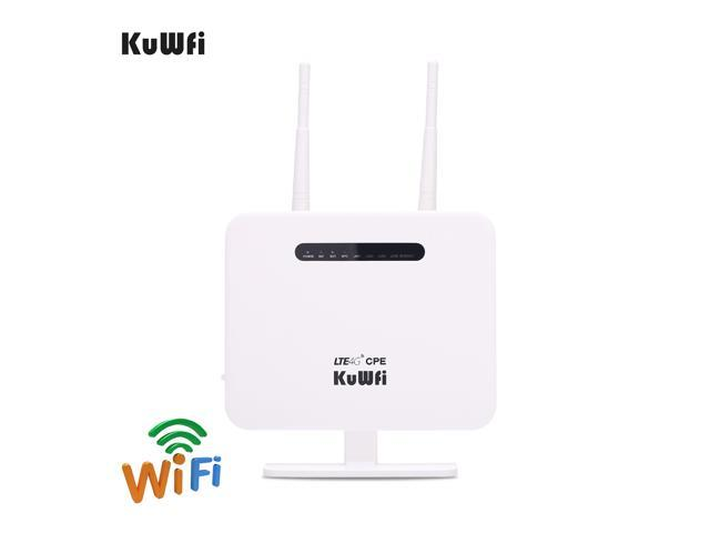 KuWFi CPE810T Router, 300Mbps Unlocked 4G LTE WIFI Mobile Modem 3G 4G AP  WiFi Router WFi Hotspot With SIM Card Solt Support Work with  3/EE/O2/Vodafone