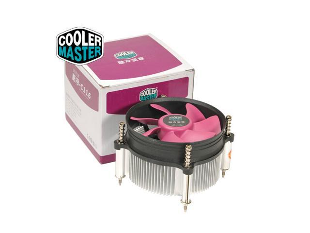 Cooler Master C116 CPU Cooler - 90mm Fan with Copper Core Heatsink - For  Intel Socket LGA1155 LGA1156 LGA775 - Newegg com