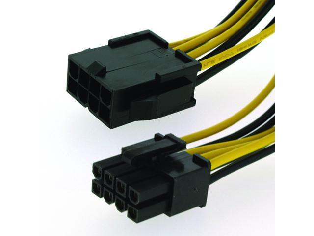 hqmade eps12v 8 pin extension cable atx 12v eps male to female cpu rh newegg com