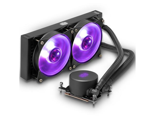 Cooler Master MasterLiquid ML240 RGB (TR4 Edition) - AIO CPU Liquid Cooler  For AMD RYZEN Thread Ripper - with Dual 120mm RGB MasterFan & Wired RGB