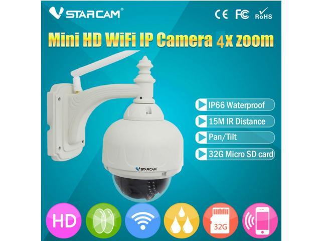 VStarcam C7833WIP-X4 WiFi IP Camera HD 720P 4 Optical Zoom IR Cut IP66  Network Camera - Newegg ca