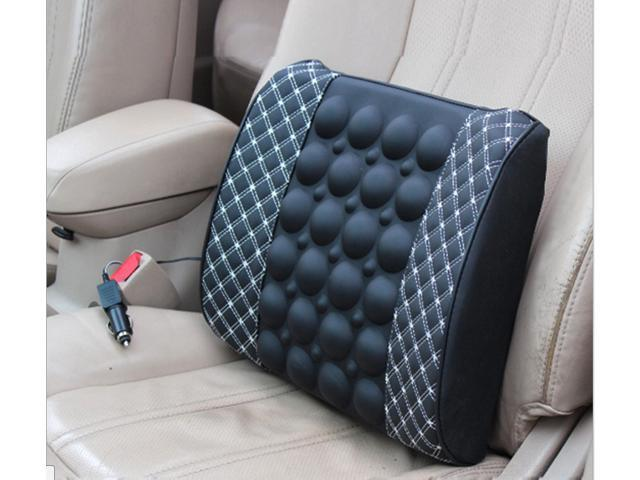 Car Electric Massage Cushion Lumbar Seat Back Waist Support Backrest