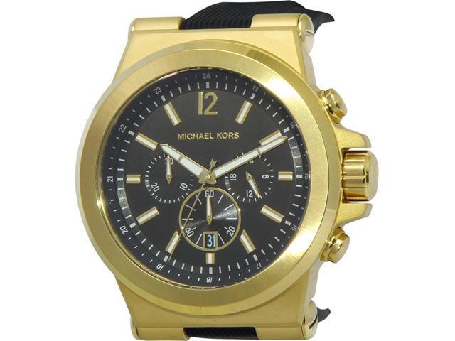 1cdbf67d01ad Men s Michael Kors Dylan Black Chronograph Watch MK8445 ...