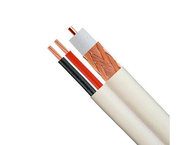 DRIPSTONE 500FT RG59 SIAMESE 18//2 SECURITY CABLE FOR CCTV BULK COAX  20AWG