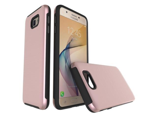 size 40 d418b 9b236 For Samsung Galaxy On5 (2016) / J5 Prime Simple Brushed Texture 2 in 1 PC +  TPU Combination Protective Case (Rose Gold) - Newegg.com
