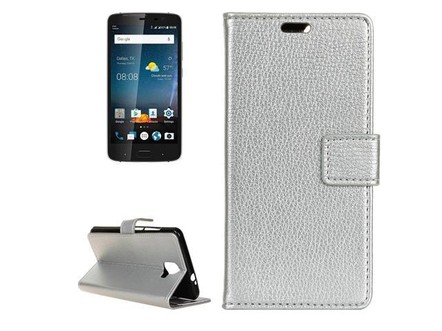 ZTE Blade V8 Pro Litchi Texture Horizontal Flip Leather Case with Holder & Card Slots & Wallet (Silver)