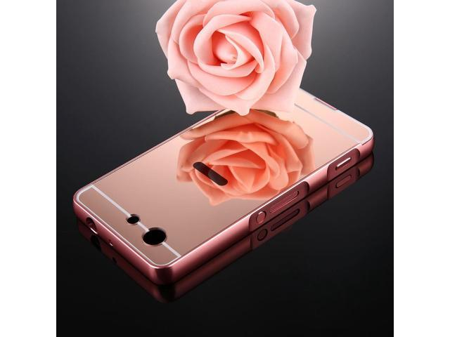 wholesale dealer f4885 9f789 For Sony Xperia Z3 Compact Mirror Push Pull Back Shell Cover +  Electroplating Bumper Frame Protective Combination Case (Rose Gold) -  Newegg.com
