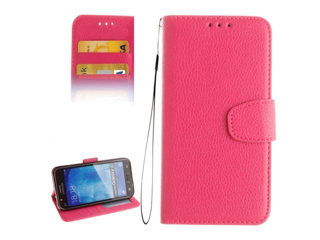 official photos 789b3 185d5 For Samsung Galaxy J3 (2016) / J310 LItchi Texture Horizontal Flip PU  Leather Case with Holder & Card Slots & Wallet & Photo Frame & Lanyard  (Magenta) ...