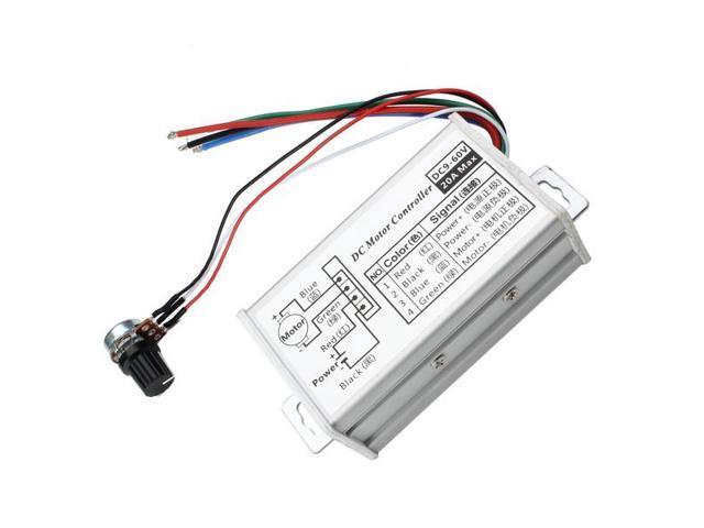 pwm dc 9v 12v 24v 48v 60v 20a stepless variable speed pulse width motor speed regulation switch
