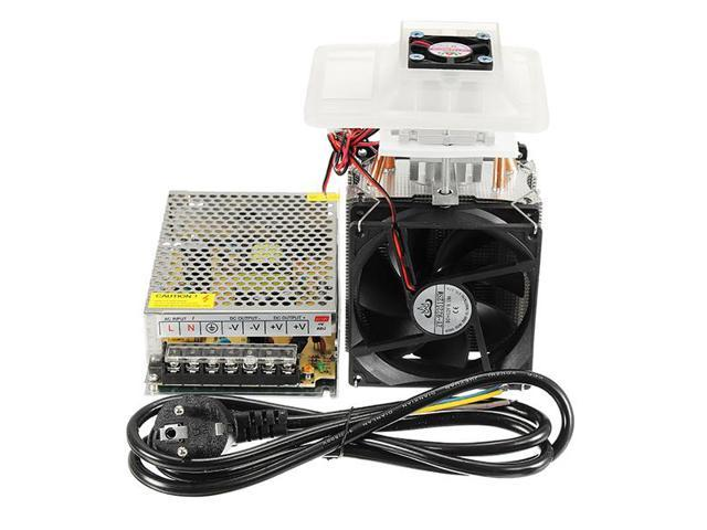 Geekcreit 12V 10A Electronic Refrigerator Production Kit DIY Semiconductor  Refrigeration Chip Radiator Dehumidification With 220V EU Power Supply -