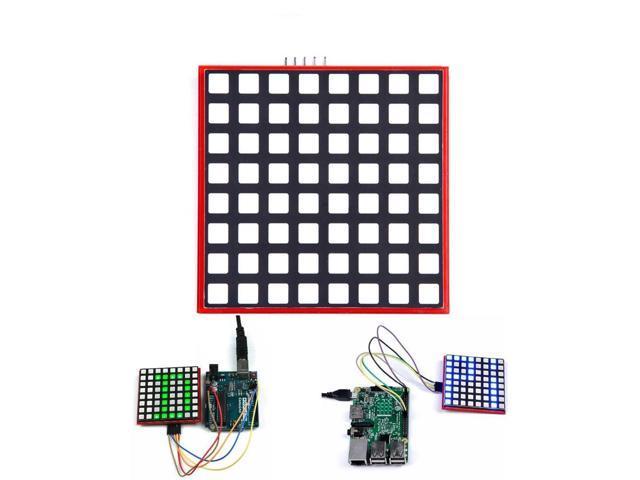 LED Full Color 8x8 RGB Dot Matrix Screen Module For Arduino Raspberry Pi 3/  2/ B+ - Newegg com