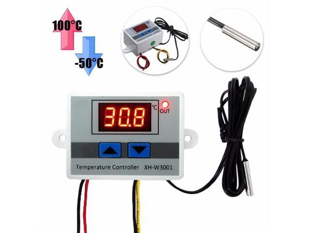 110V-220V Digital LED Air Temperature Controller Thermostat Control Switch Probe