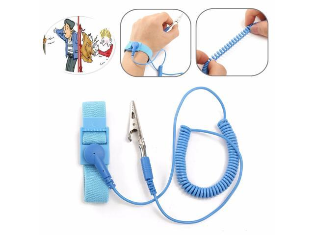 Power Tool Accessories Hand & Power Tool Accessories Antistatic Wristband Esd Wrist Strap Blue Metal Discharge For Electrician Ic Plcc Worker Antistatic Bracelet Free Shipping Attractive Fashion