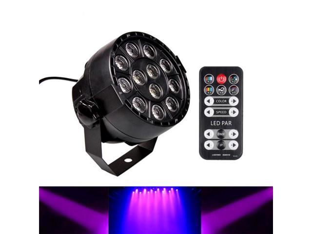 12w 12pcs led uv black lights dmx512 soundir remote control stage light for wedding party