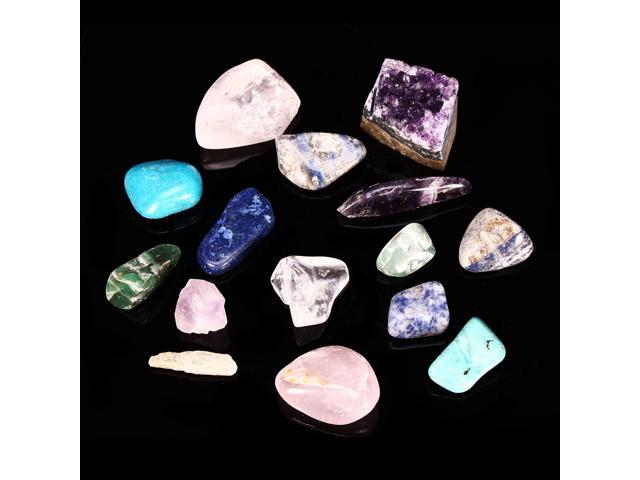 Natural Stone Collection Box Mix Gems Crystals Mineral Specimens Rock  Decoration - Newegg com
