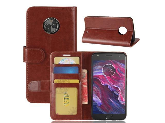 the latest 00c3d 98b82 For Motorola Moto X4 Crazy Horse Texture Horizontal Flip Leather Case with  Holder & Card Slots & Wallet & Photo Frame (Brown) - Newegg.com