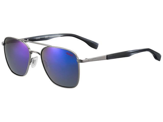 Hugo By Hugo Boss Men's Ruthenium Square Aviator Sunglasses - - Sale: $38.99 USD (76% off)