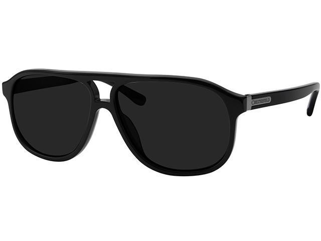 Chesterfield Polarized Men's Black Retro Aviator Sunglasses - Sale: $19.99 USD (85% off)