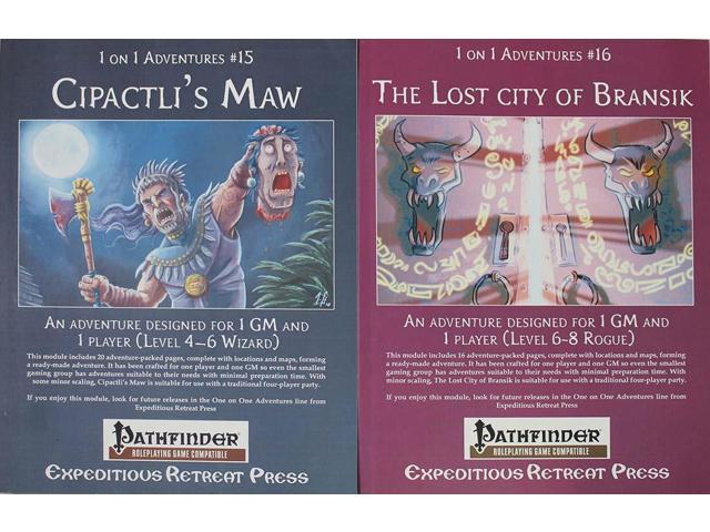 1 on 1 Pathfinder 2-Pack - Cipactli's Maw & The Lost City of Bransik VG+ -  Newegg com