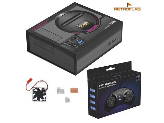 Original Retroflag Retropie MEGAPi Case with Safe Shutdown + USB Game  Controller Kit for Raspberry Pi 3 Model B+(Plus) - Newegg com