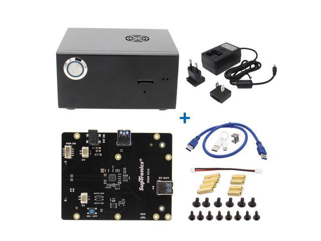 Raspberry Pi X820 V3 0 2 5 inch SATA Storage Extension Board + DC 5V 4A  Power Supply + Metal Case Kit - Newegg com