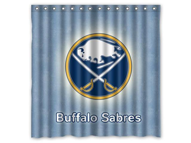 Buffalo Sabres 02 NHL Design Polyester Fabric Bath Shower Curtain 180x180 Cm Waterproof And Mildewproof Curtains Pattern01