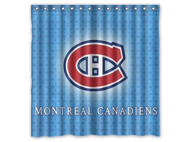 Montral Canadiens 04 NHL Design Polyester Fabric Bath Shower Curtain 180x180 Cm Waterproof And Mildewproof