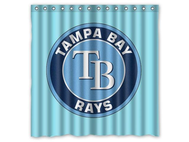 Tampa Bay Rays 01 MLB Design Polyester Fabric Bath Shower Curtain 180x180 Cm Waterproof And Mildewproof