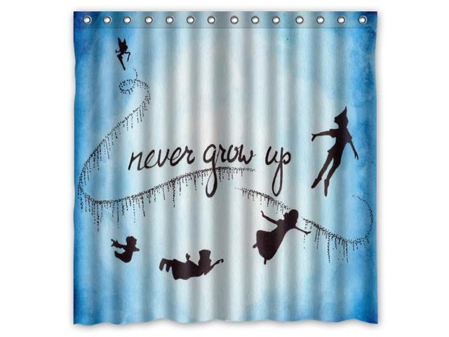 Peter Pan Never Grow Up Design Polyester Fabric Bath Shower Curtain 180x180 Cm Waterproof And Mildewproof Curtains