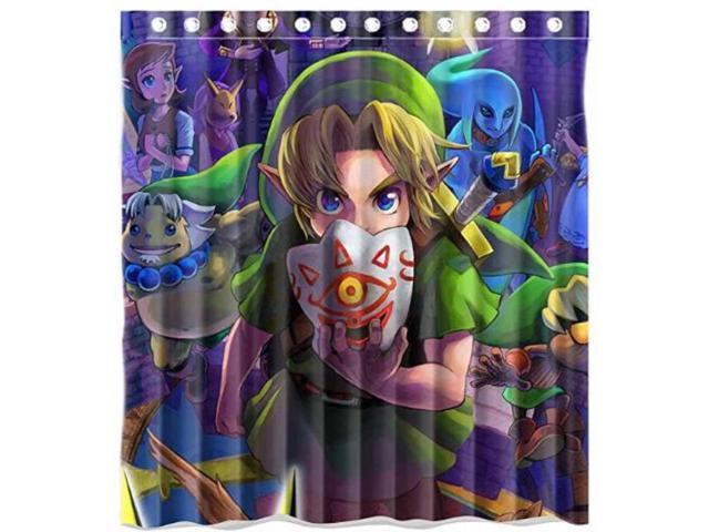 The Legend Of Zelda Majoras Mask Design 66x72 Inch Bath Shower Curtains