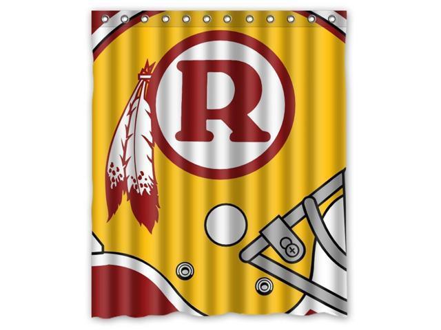 Washingyton Redskins NFL Design 60x72 Inch Bath Shower Curtains