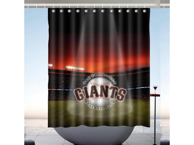 San Francisco Giants 01 MLB Bath Shower Curtain 60x72 Inch