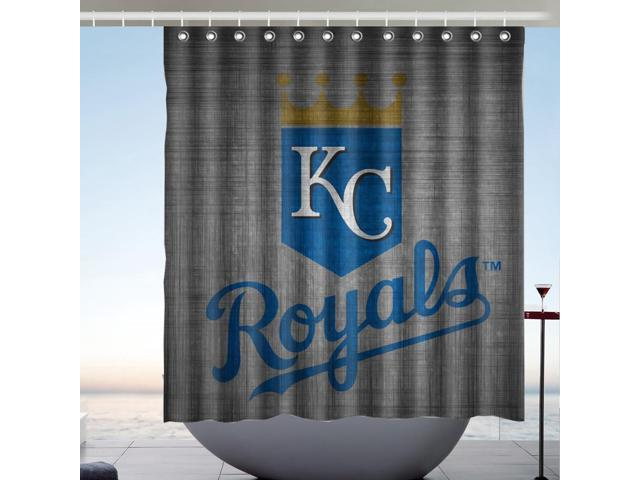 Kansas City Royals 02 MLB Fans Bath Shower Curtain 66x72 Inch
