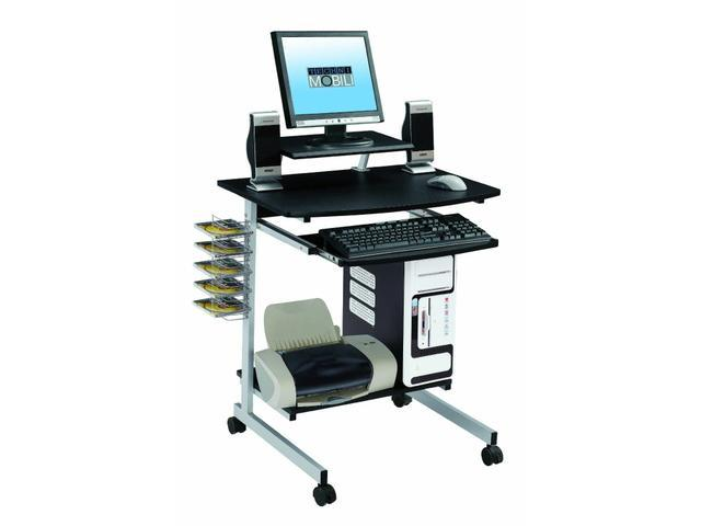 New Portable Computer Desk Cart Mobile Laptop Stand Table Storage Work  School Office