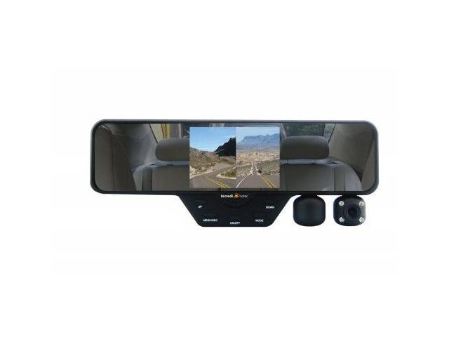 4.3 Hd Video Dual Lens Dvr Led Camera Rearview Mirror Car 1080p Driving Recorder To Help Digest Greasy Food Mirrors Vehicle Electronics & Gps