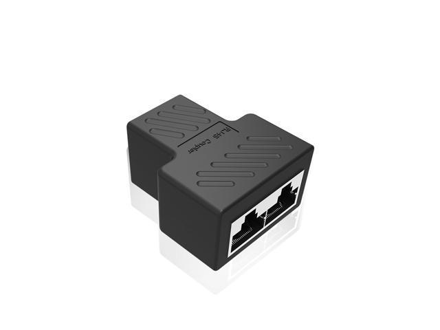 1 to 2 LAN RJ45 Network Cable Splitter Extender Plug Adapter ...
