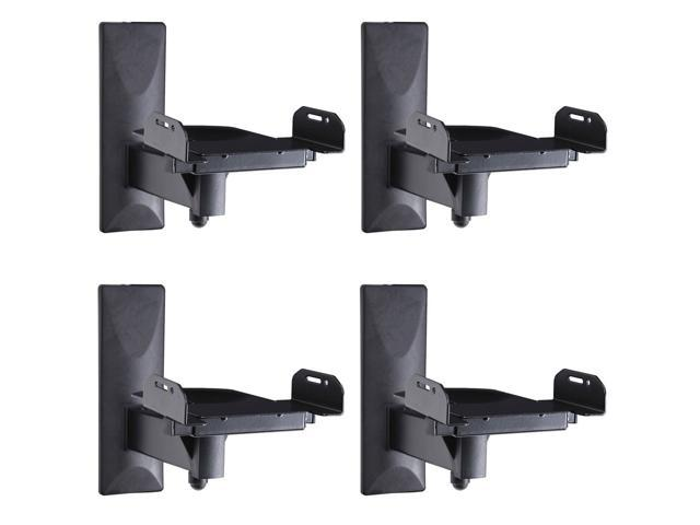VideoSecu One Pair of Side Clamping Bookshelf Speaker Mounting Bracket with S...